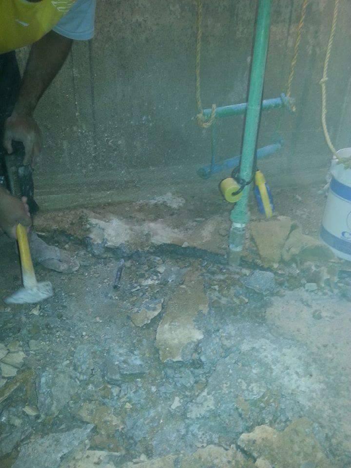 كشف عن تسربات مياه الخزانات بمكة